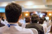 Business Conference and Presentation in the conference hall — Stock Photo