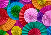 Paper folding multicolored abstract for background — Stock Photo