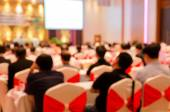 Blur of Business Conference and Presentation in the conference h — Stock Photo