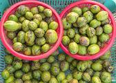Myrabolan Wood (Terminalia bellirica) herbs in Thailand market — Stock Photo