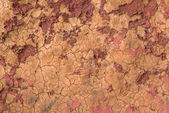 Top view of red dry soil texture for background — Stock Photo