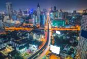Top view of Expressway Highway in Bangkok Thailand — Stock Photo