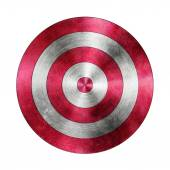 Red Target Aim on the White Background — Stock Photo