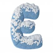 Letters FONT made of wool covered with snow — ストック写真