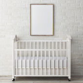 Baby room, mock up poster on  wall, 3d illustration — Stock Photo