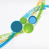 Streszczenie futurystyczna technologia kolorowy koło 3d — Wektor stockowy