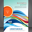 Abstract Business Background. Layer template. Brochure or flyer — Stock Vector #56472659