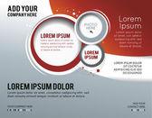 Snygg presentation av business affisch, veckotidningsomslag, design — Stockvektor
