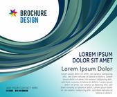 Brochure design content background. Design layout template — Stock Vector