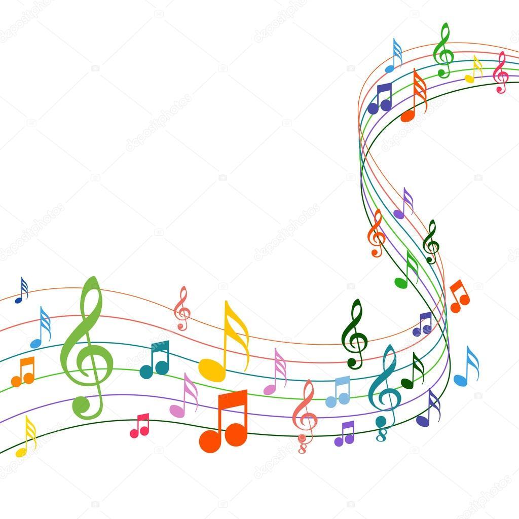 notas musicales de color sobre un fondo blanco de solide vector de stock 56470105 depositphotos. Black Bedroom Furniture Sets. Home Design Ideas