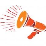 Isolated cartoon megaphone — Stock Vector #58177263