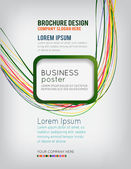 Flyer or brochure template — Stock Vector