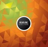 Futuristic Design background with triangle — Stock Vector