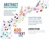 Renkli müzik notlar — Stok Vektör