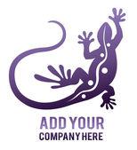 Cartoon lizard isolated — Stock Vector