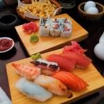 Japanese cuisine - rolls — Stock Photo #52366429