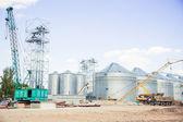 Construction site elevator, granary — Stock Photo