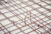 Mesh reinforcement cage, reinforcement plates — Stock Photo