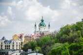 Church on the hill in Kiev — Stock Photo