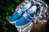 Men's loafers, advertising photo — Stock Photo