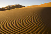 The Wind-Blown Lines Of Sands In Morocco — Stock Photo
