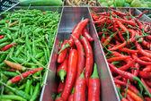 Peperoncino verde e rosso — Foto Stock