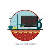 Medicine Laboratory — Stock Vector