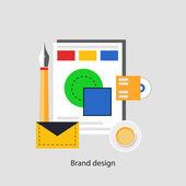 Brend design concept — Stock Vector