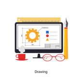 Drawing process — Stock Vector