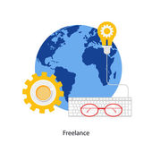 Freelancing — Stock Vector