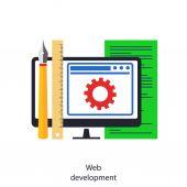 Web development — Stock Vector