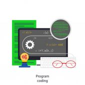 Program coding — Stock Vector