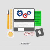 Workflow — Stock Vector