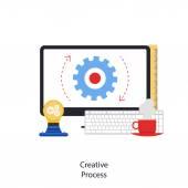 Creative Process — Stock Vector