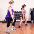Two women working out in gym — Stock Photo #57074943