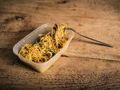 Singapore style noodles on table — Stock Photo