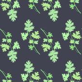 Cilantro bunch  seamless pattern — Stock Vector