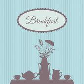 Tableau a servi pour le petit déjeuner — Vecteur