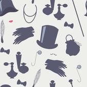 Lady and gentleman accessories set — Stock Vector