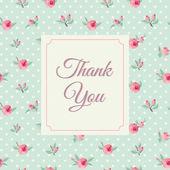 Thank you card template — Stock Vector