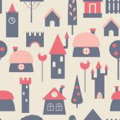 Engraçado casas coloridas. — Vetor de Stock