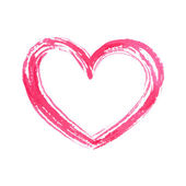 Isolated hand drawn heart. — Stock Vector