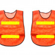 2 Orange vest, isolated on white and clipping path. — Stock Photo #52613215