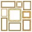 Set of Vintage golden frame with blank space, clipping path — Stock Photo #52619491
