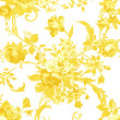 Gold rose on white fabric background, Fragment of colorful retro — Stock Photo #57218299