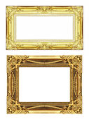 Set 2 of Vintage golden frame with blank space, clipping path — Foto de Stock