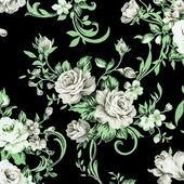 Gray rose vintage on fabric background. — Stockfoto