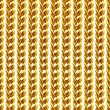 Gold chain necklace isolated on white, closeup , for background. — Stock Photo #61439233