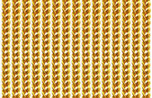 Gold chain necklace isolated on white, closeup , for background. — Stock Photo