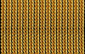 Gold chain necklace isolated on black, closeup , for background. — Stock Photo